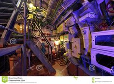 Submarine interior   Stock Image: The submarine interior