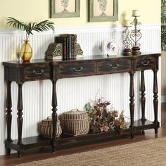 Coast to Coast Imports Four Drawer Console Table