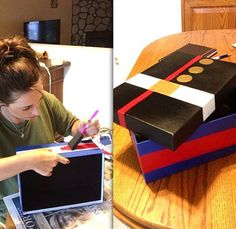 Well I'm making this for Juan's graduation from boot camp and filling it up with a bunch of his favorite stuff:) I'm sure he'll love it!