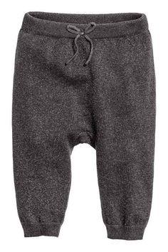 Fine-knit trousers