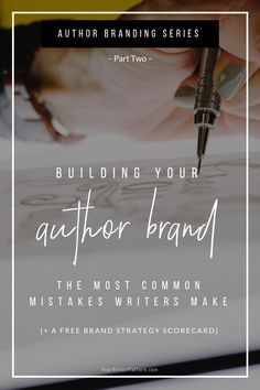 Building Your Author Brand (Part Two): The Most Common Mistakes Writers Make – by Kimberley Grabas… Writing Genres, Writing Advice, Writing A Book, Writing Prompts, Writing Resources, Writing Workshop, Writing Ideas, Emotional Connection, Book Launch