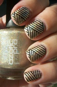 Black & Gold #nails #nail art #nail #nail polish #nail stickers #nail art designs #gel nails #pedicure #nail designs #nails art #fake nails #artificial nails #acrylic nails #manicure #nail shop #beautiful nails #nail salon #uv gel #nail file #nail varnish #nail products #nail accessories #nail stamping #nail glue #nails 2016 - #nails #nail art #nail #nail polish #nail stickers #nail art designs #gel nails #pedicure #nail designs #nails art #fake nails #artificial nails #acrylic nails…