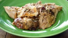 Slow roast leg of lamb with herb rub - Nigel Slater.   Perfect for that cosy sunday :)