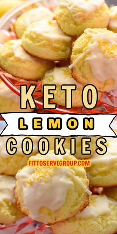 Ketogenic Desserts, Low Carb Desserts, Keto Snacks, Low Carb Recipes, Ketogenic Diet, Lemon Cookies, Soft Sugar Cookies, Galletas Keto, Comida Keto