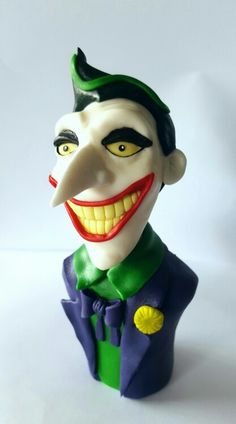 The Joker cake topper. Made with marshmallow fondant