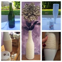 DIY How to Make Twine Wrapped Wine Bottles - A Tutorial on How to Wrap a Wine Bottle with Twine - Reusing Old Wine Bottles is So Great! #winebottles #twine #diyvases
