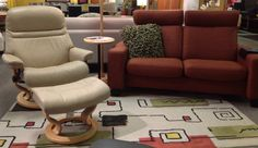 Space Loveseat with Sunrise Recliner, Available at Scanhome Furnishings in Green Bay.