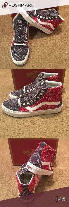 af3400f333 Ditsy Bandana SK8Hi Reissue Vans New in box. Chili pepper Vans Shoes  Sneakers Vans Off