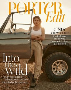 Shot by photographer Zoey Grossman, supermodel Cindy Crawford wore a tank from James Perse and a Givenchy pants (with belt) paired with Balmain boots . Cindy Crawford Photo, Tapas, Balmain Boots, Fashion Cover, Fashion Shoot, Kaia Gerber, March 1st, Gisele, Role Models