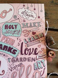 Favorite Words Print @etsy #illustration #words #etsy #print