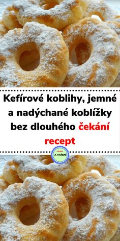 Sweet Recipes, Cake Recipes, Dessert Recipes, Czech Recipes, Kefir, Doughnut, Ham, Thing 1, Deserts
