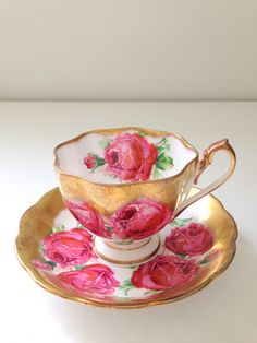 Vintage English Queen Anne Fine Bone China Tea by MariasFarmhouse, $45.00