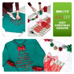 The uglier the sweater, the merrier the Christmas! See how we created these fun ugly sweaters using products from Big Lots. Happy National Ugly Christmas Sweater Day! #NUCSD #BigLots