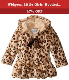 33f96c60acad Widgeon Little Girls' Hooded Big Bow Coat In Animal, Baby Leopard, 3.
