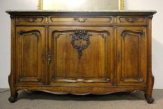 19th Century French Antique Louis XV Style Rococo Buffet
