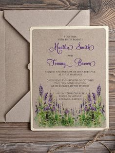 Natural recycling paper  Wedding Invitation by DecorisWedding, $3.50