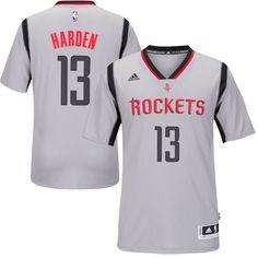 6c6dbff9f Men s Houston Rockets James Harden adidas Gray New Swingman Alternate Jersey