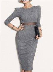 Charming Round Neck Hollow Out Knitted-dress