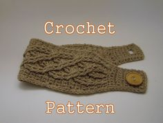 PDF Crochet Pattern - Celtic Cable Headband - Instant Download on Etsy, $3.98... Couldn't figure it out.