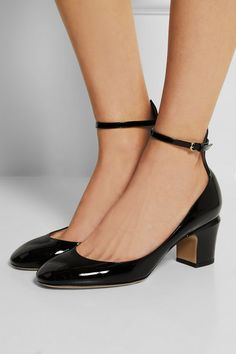Valentino | Tan-Go patent-leather Mary Jane pumps | NET-A-PORTER.COM