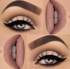 Make up thang | cashmere lime crime, glitter cut crease cat eye http://amzn.to/2sNPLmB