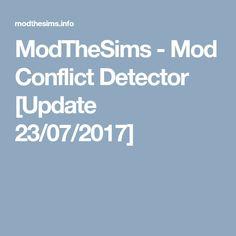 mod conflict detector sims 4 mac