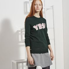 Pull col rond Lacoste LIVE en jersey