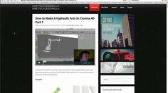 Cinema 4D tutorial - Robot arm introduction