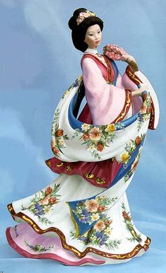 'Plum Blossom Princess' ~ Porcelain by Lena Liu
