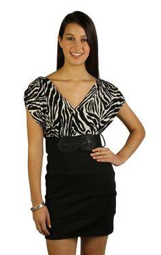 zebra print day dress