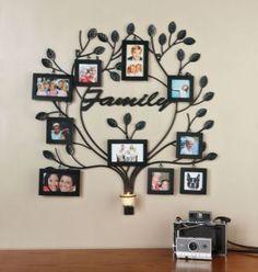 Sou uma apaixonada por fotografia. Por isso trago para vocês essa ideia de decoração na parede, desenhando uma árvore e em seus galhos, co...