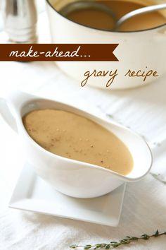 Make-Ahead Gravy Recipe for Thanksgiving.