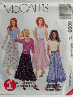 McCall's 8099 Misses' Pull-On Skirt