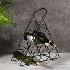 Stojan na víno Black Wine, výška:  54cm     #víno#stojan#prepravka#debnicka#darcek#prenho#premuzov#muzi Terrarium, Wine, Christmas Gifts, House Decorations, Home Decor, Black, Terrariums, Xmas Gifts, Christmas Presents