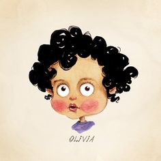 """Children's Custom Portrait. Toddler's Personalised Caricature. Print on Fine Art Paper. All sizes up to 8.5"""" x 11"""". Great Family Gift Idea."""