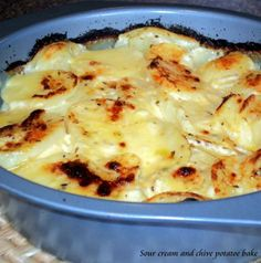 Sour Cream and Chive Potato Bake from Food.com: a Donna Hay recipe