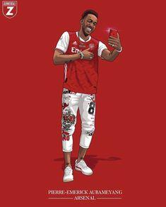 Aubameyang Arsenal, Pierre Emerick, Football Art, Messi, In This Moment, Arsenal Official, Illustration, Instagram Repost, Illustrations