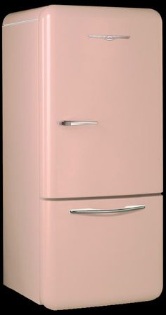 Northstar refrigerator in Flamingo Pink by Nostalgia & Co. I'm getting this one day!!! It's on my wish list lol