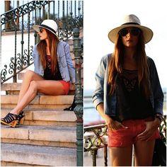 C&A Shirt, C&A Top, Zara Short, Zara Sandals
