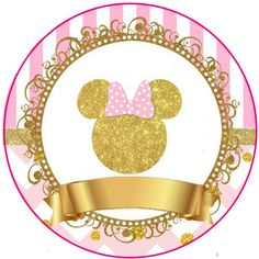 Minnie Mouse Stickers, Minnie Mouse Birthday Decorations, Mickey Minnie Mouse, Minnie Mouse Birthday Theme, 1st Birthday Parties, Disney Frames, Baby Shower Princess, First Birthdays, Party Themes