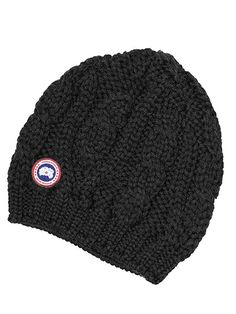 Canada Goose Cable Knit Beanie Hat ( 59) ❤ liked on Polyvore featuring  accessories 978366f1e6