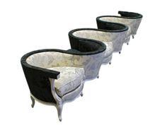 fauteuil confident : créé sous le règne de Louis-Philippe. XIXe