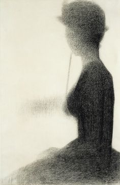 Georges Seurat, Seated Woman with a Parasol, 1884