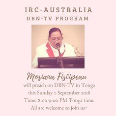 IRC-Australia DBN-TV Sunday 2 September 2018 – Mosiana Fisi'ipeau – FB Ad