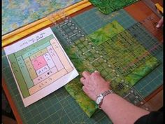Log Cabin Quilt Block Cut with Accuquilt GO