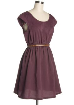 plum dress... this color <3