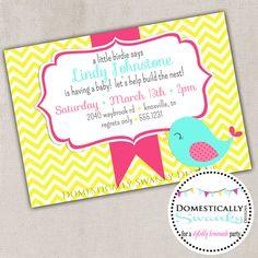 Little Birdie Says Baby Shower Invitation   by domesticallyswanky, $8.00