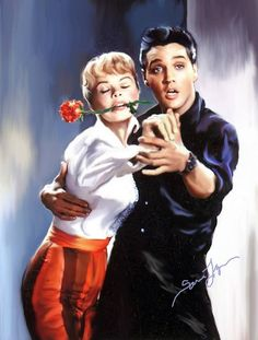 Elvis by Sara Lynn Sanders Elvis Presley Movies, Elvis Presley Photos, Famous Duos, She's A Lady, Old Movie Stars, Lisa Marie Presley, Star Wars, Marilyn Monroe Photos, Thats The Way