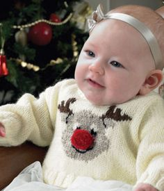 A Rudolph jumper featuring a bright red pom pom In King Cole DK. A Rudolph jumper featuring a bright red pom pom In King Cole DK. Baby Christmas Jumper, Christmas Knitting, Christmas Jumpers, Christmas Sweaters, Festive Jumpers, Baby Sweater Knitting Pattern, Baby Knitting Patterns, Childrens Christmas, Father Christmas