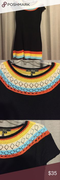NWOT Black Boatneck Knit Sweater Dress Size L NWOT Black Boatneck Knit Sweater Dress Size L Dresses